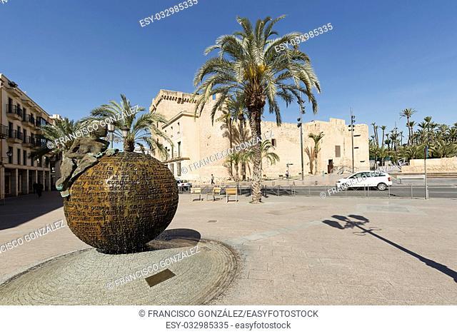 Elche, Spain: March 30, 2017: Altamira Palace in the city of Elche, Alicante province. Valencian Community, Spain