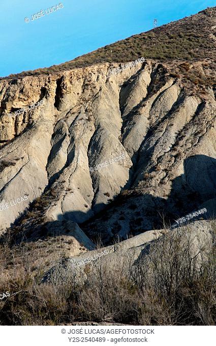 Natural Spot Tabernas Desert, Almeria province, Region of Andalusia, Spain, Europe