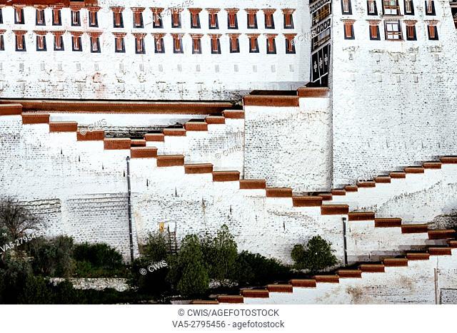 Lhasa, Tibet, China - The view of Potala Palace at night