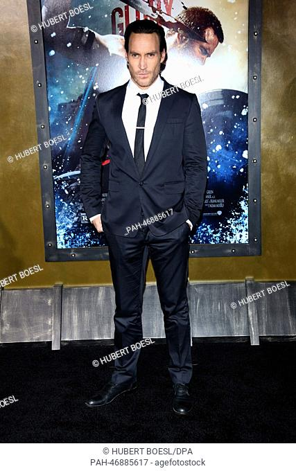 Actor Callan Mulvey attends the premiere of 300: Rise Of An Empire at TCL Chinese Theatre in Los Angeles, USA, on 04 March 2014