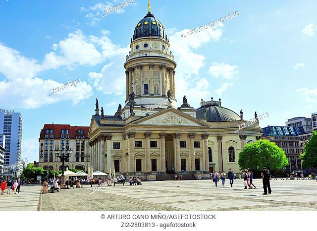 The Deutscher Dom -German Church- XVIIIth century at the Gendarmenmarkt. Berlin, Germany
