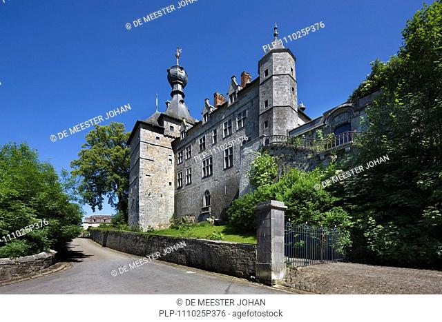 The castle of the princes of Chimay in the Ardennes, Belgium