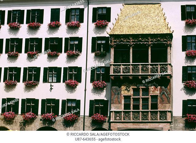 The 'Golden Roof', Innsbruck. Tyrol. Austria