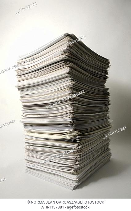 A stack of white sheets of paper