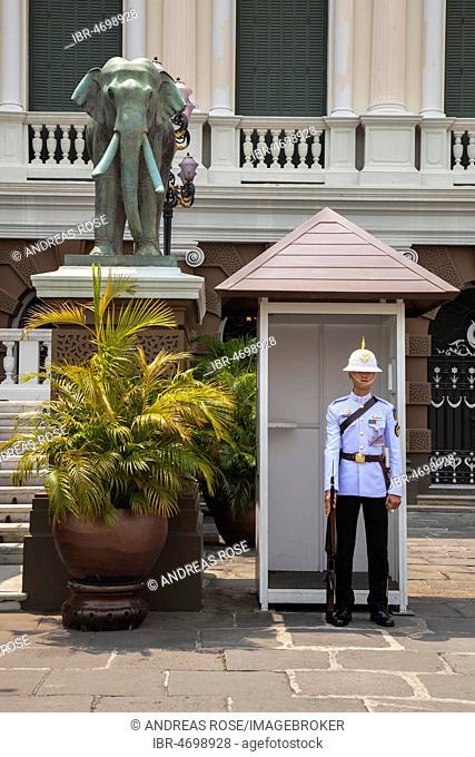 Guard at the Royal Palace, Bangkok, Thailand