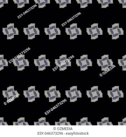 Seamless black and white abstract modern pattern from rectangle intersections
