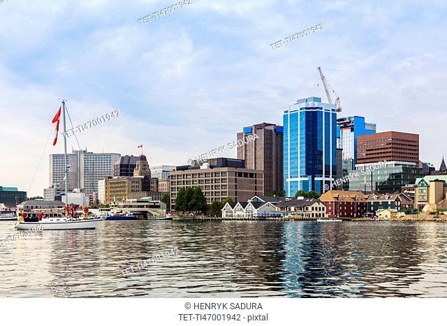 Canada, Nova Scotia, Halifax, Architecture on coastline