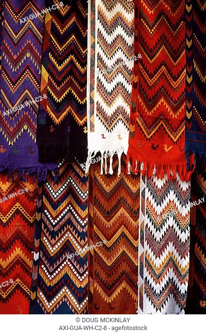 Local patterned fabric for sale in Chichicastenango