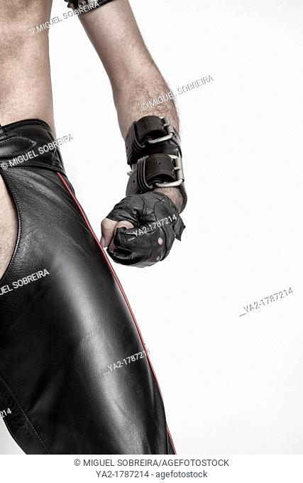 Man in Fetish Leather