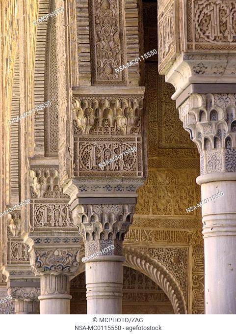 Patio de los Arrayanes, Alhambra, Granada, Andalucia, Spain