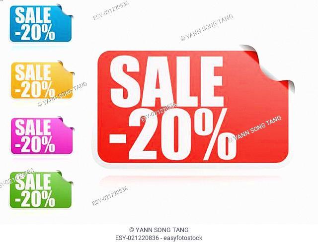 Sale 20% label set