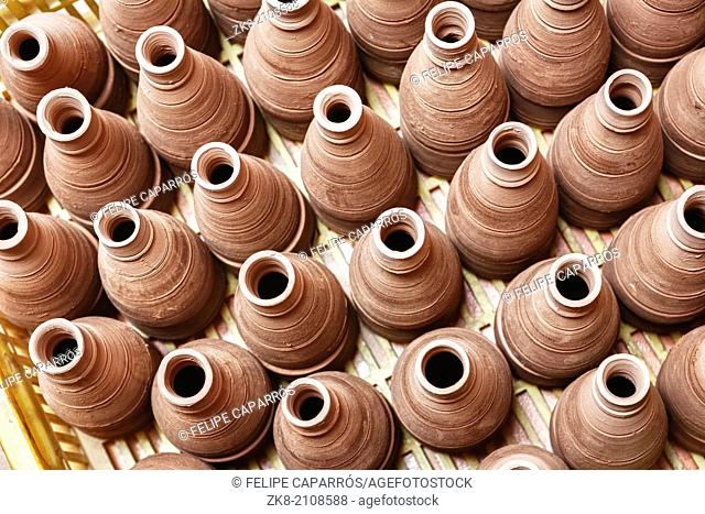 clay pottery ceramics typical of Bailén, Jaen province, Andalucia, Spain