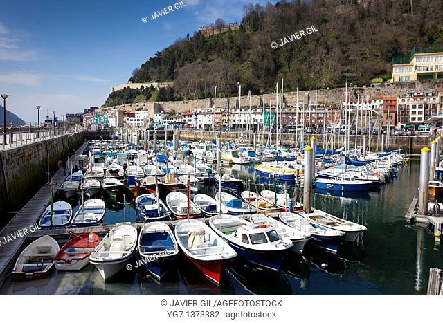 Port of San Sebastian, Gipuzkoa, Spain