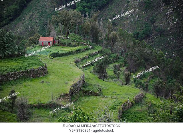 Village in the Freita mountains, with the pastures that use to be tha feeding ground for the sheep and goat herds that used to exist there