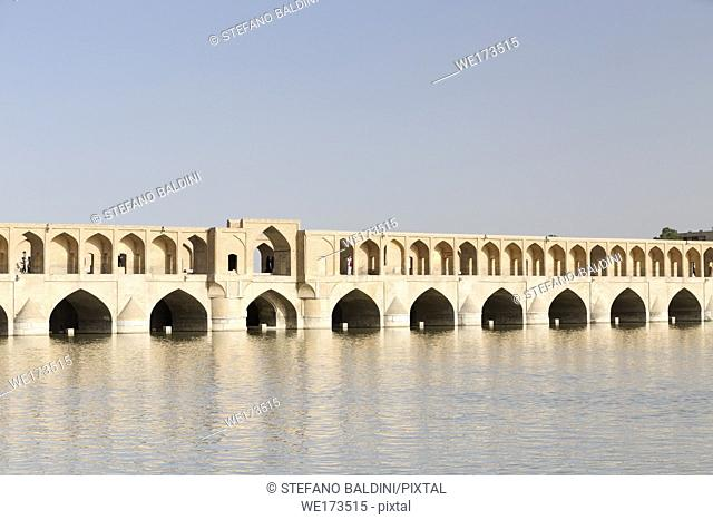 Pol-e Si-o-Seh bridge, or Si-o-Seh bridge, Esfahan, Iran