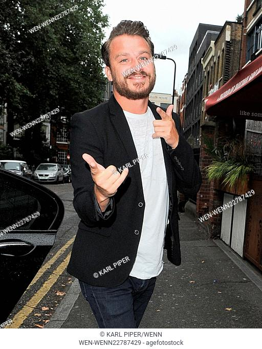 'The Self-Esteem Team's Guide to Sex, Drugs and WTFs?!!' book launch party in London - Arrivals Featuring: Dapper Laughs Where: London