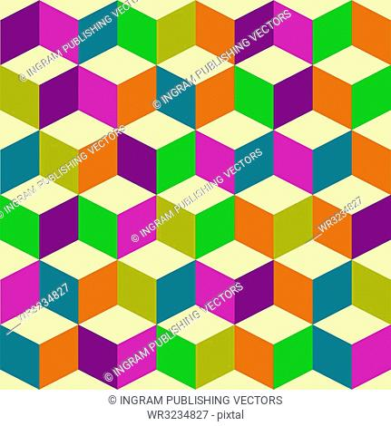 Seventies inspired jester background with seamless repeating tile background