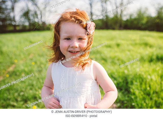 Little girl in park