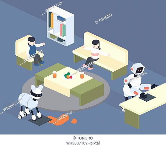 Robots cleaning for people