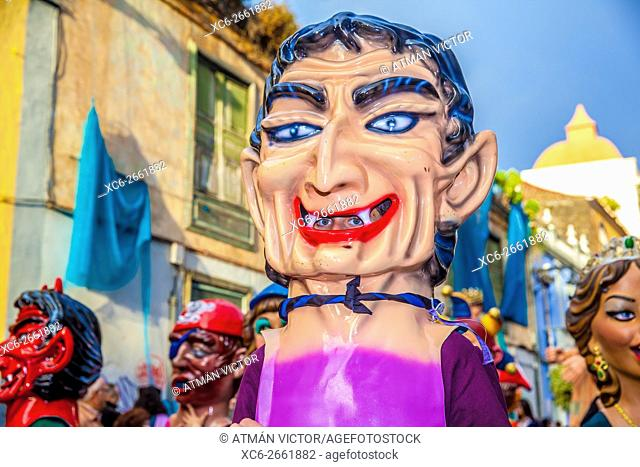 Devils and Tarasca street parade in San Cristobal de La Laguna