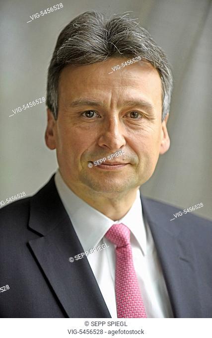 Germany, Frankfurt, 25.5.2016 Gerhard Wiesheu, board member of the bank B.Metzler seel. Sohn & Co. Holding AG, during the press conference - Frankfurt, Germany