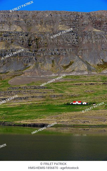 Iceland, Westfjords, Vestfirdir Region, Breidafjordur Bay, Kollafjordur fjord