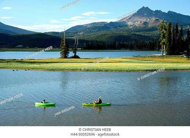 North America, America, USA, American, Pacific Northwest, Oregon, Deschutes National Forest, Broken Top, Sparks Lake