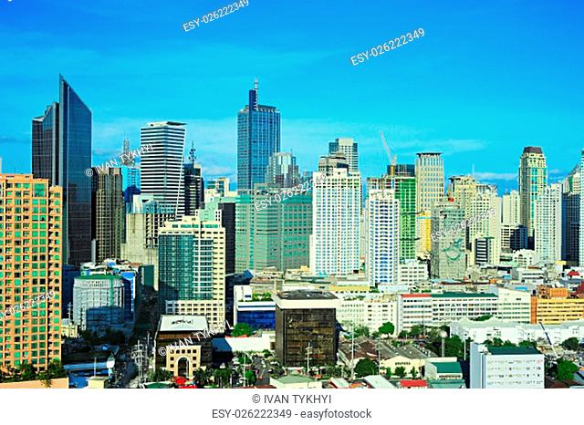 Makati city - modern financial and business district of Metro Manila, Philippines