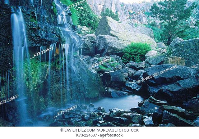 Waterfall at Laguna Negra. Soria province. Spain