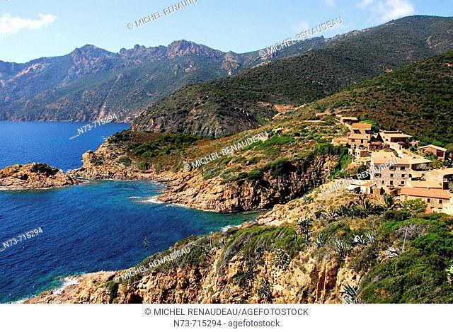 Girolata, Gulf of Porto. Corse-du-Sud, Corsica, France