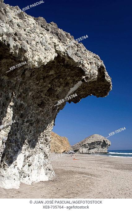 San Jose and Monsul beach, Cabo de Gata-Nijar Biosphere Reserve. Almeria province, Andalucia, Spain