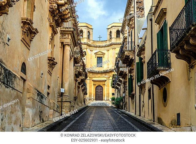 Church of Montevergine in Noto city, Sicily in Italy