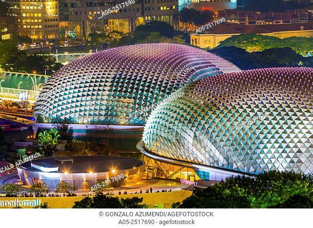 The Esplanade Theatres on the Bay. Marina Bay. Singapore. Asia