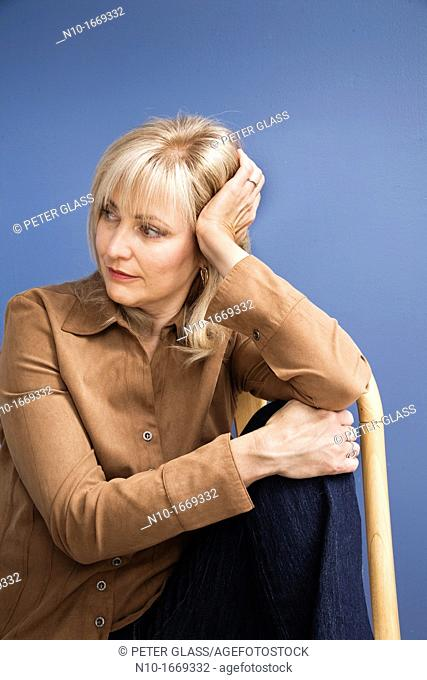 Middle-age blond woman