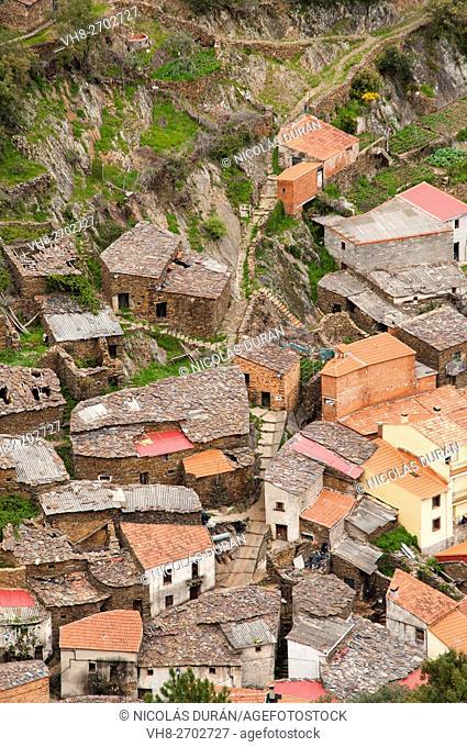 Gasco Village. Caminomorisco. Comarca de las Hurdes. Cáceres province. Extremadura. Spain