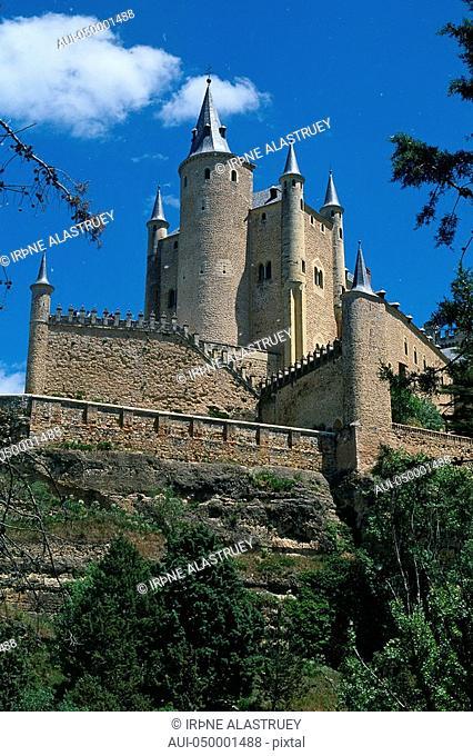 Spain - Madrid neighbourhood - Segovia - The Alcazar - Fortified castle