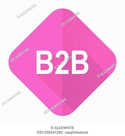 b2b pink flat icon