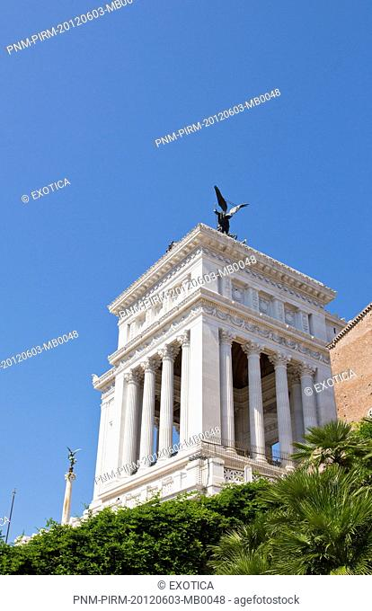 Low angle view of the Vittorio Emanuele Monument, Rome, Lazio, Italy