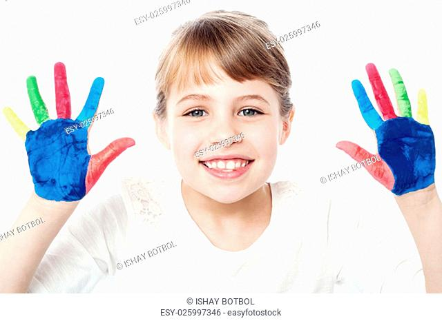 Different colors on kid's palm