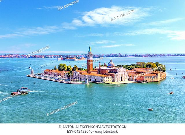 San Giorgio Maggiore Island, view from the sightseeing platform in Piazza San Marco