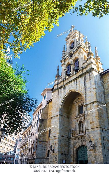 San Vicente church. Bilbao. Biscay, Spain, Europe