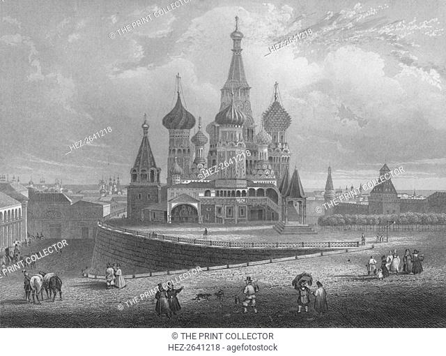 'Wassili Blagennoi or the Cathedral of St. Basil Moscow', c1850. Artist: Albert Henry Payne