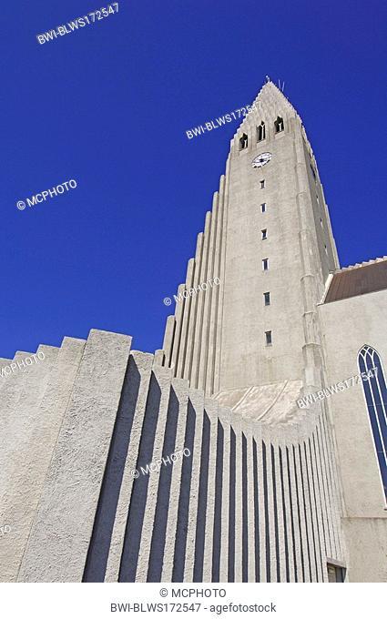 Hallgrimskirkja, the main church of Reykjavik and main city landmark, Iceland