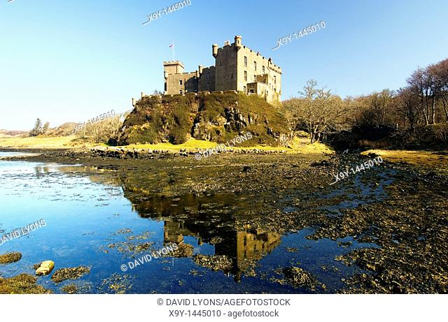 Dunvegan Castle on the Inner Hebrides Isle of Skye, Scotland, UK  Ancient home of Chiefs of Clan McLeod, Lord of the Isles
