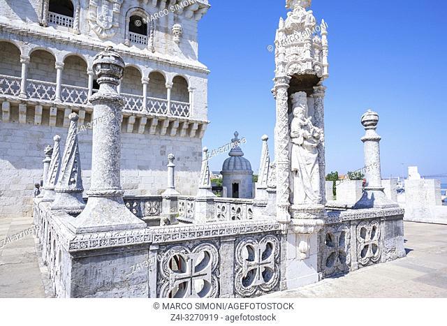 Belem Tower, UNESCO World Heritage Site, Belem, Lisbon, Portugal, Europe