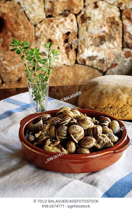 caracoles a la mallorquina,Can Ramis,llucmajor, Majorca, Balearic Islands, Spain