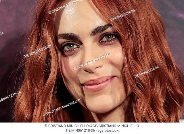 The actress Miriam Leone during the photocall of film Il testimone invisibile, Rome, ITALY-06-12-2018