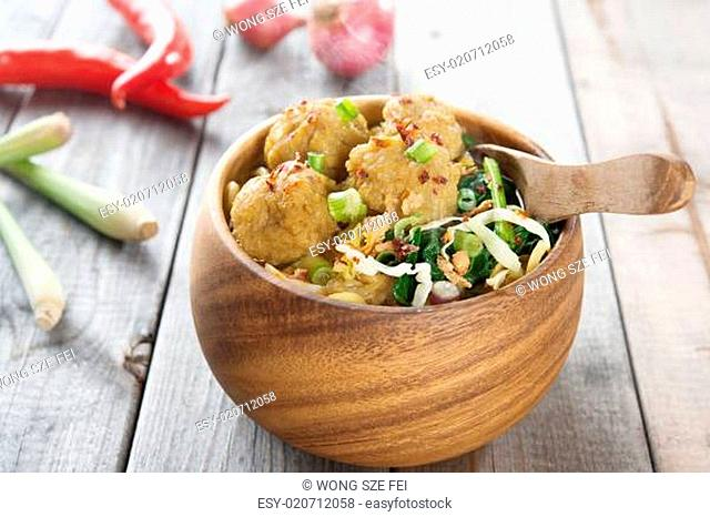 Indonesian food mee bakso