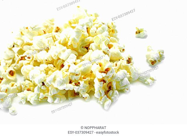 popcorn isolated on a whine background