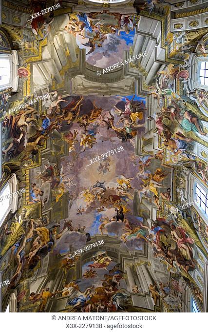 Church of Sant Ignazio fuori le mura. Ceiling interior. Rome, Italy